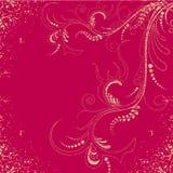 Grunge floral wallpaper Stock Image