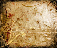 Grunge florale Image stock