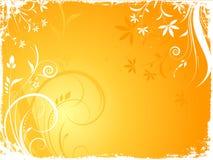 Grunge florale illustration stock