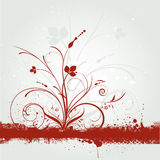 Grunge florale Images libres de droits