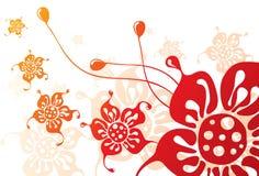 grunge florale Illustration de Vecteur