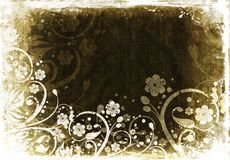Grunge florale Images stock