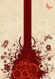 grunge florale de fond Images libres de droits