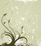 grunge florale de fond Images stock