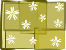 Grunge florals. Grunge floral pattern on green sheets Royalty Free Stock Photography