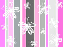 Grunge florals. On stripes Royalty Free Stock Photos