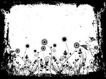 Grunge floreale Fotografia Stock