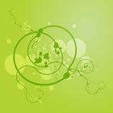 Grunge floreale di Swirly Fotografia Stock