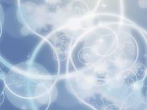 Grunge floreale di Swirly Fotografie Stock