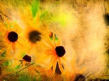 Grunge flower. Old paper grunge flower background Stock Photography
