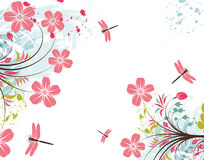 Grunge flower background Royalty Free Stock Photos