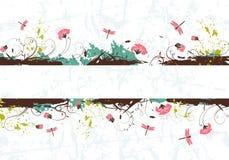 Grunge flower background Stock Photo