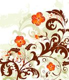 Grunge flower background Royalty Free Stock Photos