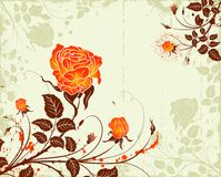 Grunge flower background Stock Photos