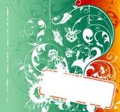 Grunge flower background Stock Photos