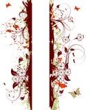 Grunge flower background Stock Images