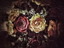 Grunge flower background and texture. For invite Royalty Free Stock Image
