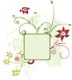 Grunge flower banner Royalty Free Stock Photography