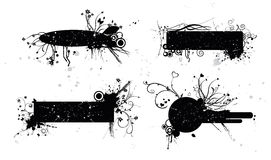Grunge flower banners Royalty Free Stock Photos