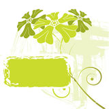 Grunge flower design Stock Photography