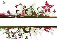 Grunge Flower Frame Stock Photos