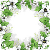 Grunge Flower Frame stock photo