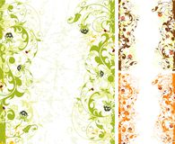 Grunge flower frame Stock Photography