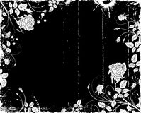 Grunge flower frame Royalty Free Stock Photography
