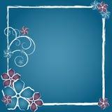 Grunge Flower Frame Stock Image