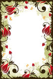 Grunge Flower frame Royalty Free Stock Images