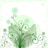 Grunge flower green Stock Image