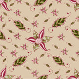The grunge flower pattern. For backgrounds, textile and sweetie paper Stock Image