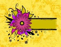 Grunge flower text frame Royalty Free Stock Image
