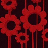 Grunge flowers. In red tones Royalty Free Stock Images