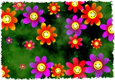 Grunge flowers Stock Images