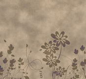 Grunge flowers. Brown grunge flowers on a soft nature background Stock Image