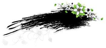 Grunge Flowers frame AD Stock Photos