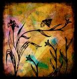 Grunge flowers illustration Royalty Free Stock Photography