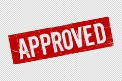 Grunge foki czerwony zatwierdzony kwadratowy gumowy znaczek royalty ilustracja