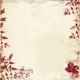 Grunge with foliage and flower royalty free stock photos