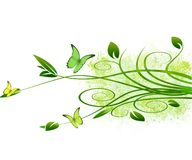 Grunge foliage vector background Stock Photo