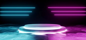 Grunge foncé vide futuriste moderne vide Reflec concret de Sci fi illustration libre de droits