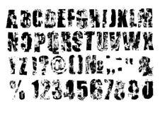 Grunge font Stock Image