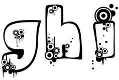 Grunge Font Stock Images