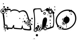 Grunge Font Royalty Free Stock Image