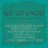 Grunge font on abstract corrugated background Stock Photos