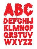 Grunge font alphabet. Spooky grunge font alphabet isolated Stock Photography