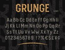 Grunge Font 001 Stock Photography