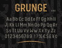 Grunge Font 002 vector illustration
