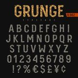 Grunge Font 004 stock illustration